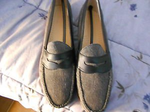 G.H. Bass & Company Men's Loafers Weejus FS Black Canvas  Size:11.5D  New in box