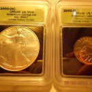 2000-(W) Silver Eagle(MS67)  & 2000-D Sacagawea Dollar Set  ICG #05443 Intercept