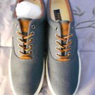 Ralph Lauren POLO Denim Herringbone Sneakers (Vaughn)   Size: 11.5D  New in box