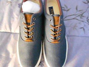 Ralph Lauren POLO Denim Herringbone Sneakers (Vaughn)   Size: 11.5D  New in box