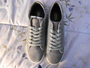 Ralph Lauren POLO Grey Sport Suede Sneakers(Harvey)   Size: 11.5D  New in box