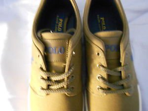 Ralph Lauren POLO Sepia(brown) Canvas Sneakers(Faxon) US Size: 11.5D  New in box