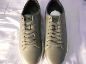 Ralph Lauren POLO Grey Leather Sneakers (Whickham)   Size: 11.5D  New in box