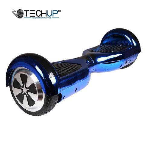Techup Holographic Chrome Blue Hoverboard 6.5 inch