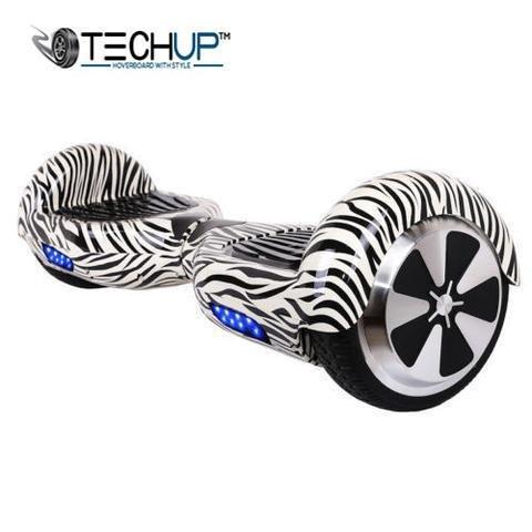 Techup Vortex Zebra Edition Hoverboard 6.5 inch