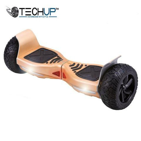 Techup Off Road All Terrain Hoverboard Gold Edition 8 inch