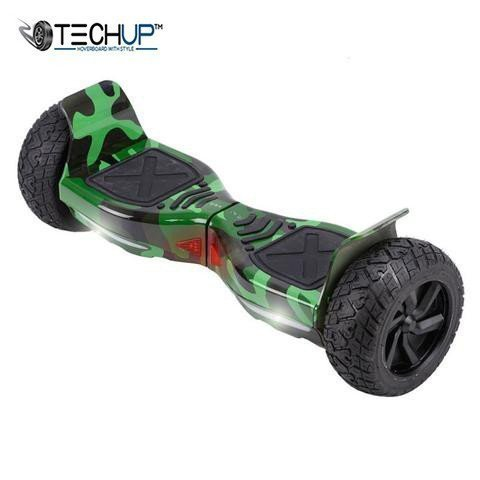 Techup Off Road All Terrain Hoverboard Camo Green Edition 8inch