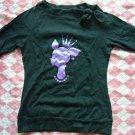 Hong Kong A.Y.K. Glitter Purple Princess w/ Ribbon Shirt
