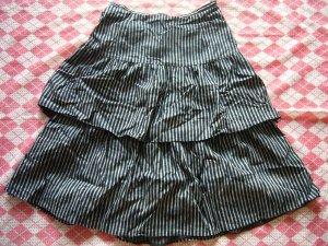 Hong Kong Veeko Black Lines Layers Skirt