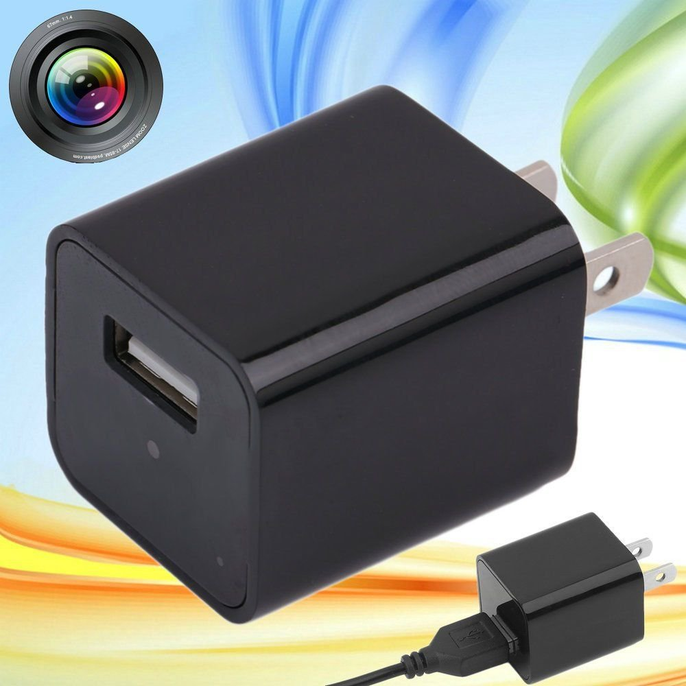 32GB 1080P WIFI USB SPY Hidden Wall Phone Charger Camera AC Adapter Plug DVR NEW