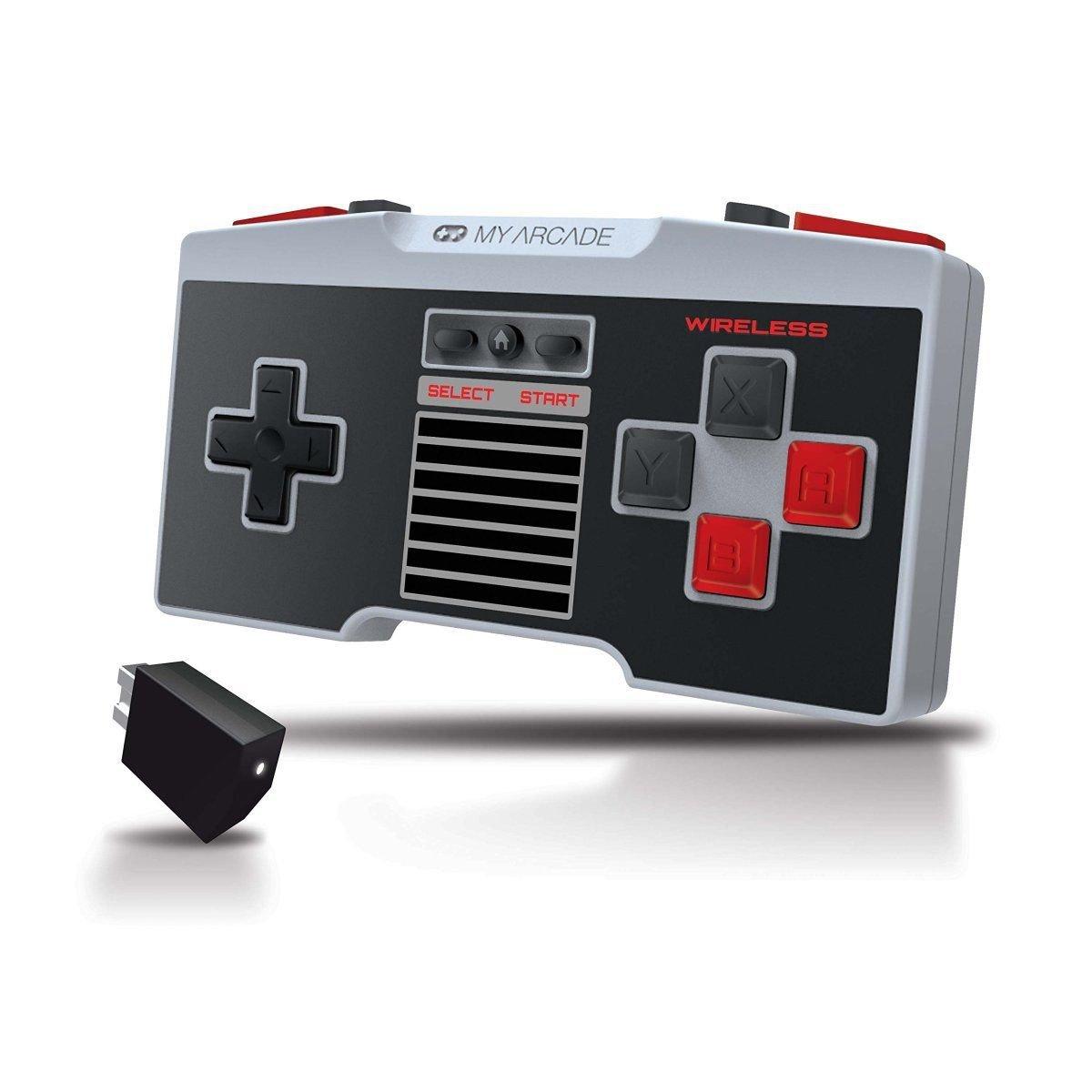My Arcade GamePad Pro Wireless Ergonomic Controller For NES Classic Wii U Remote
