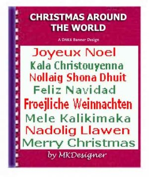 Christmas Around The World DAK Machine Knit Pattern