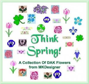 THINK SPRING! Original Floral Designs HK MK Graphs