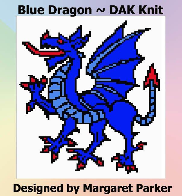 Blue Dragon Machine Knit DAK ePattern