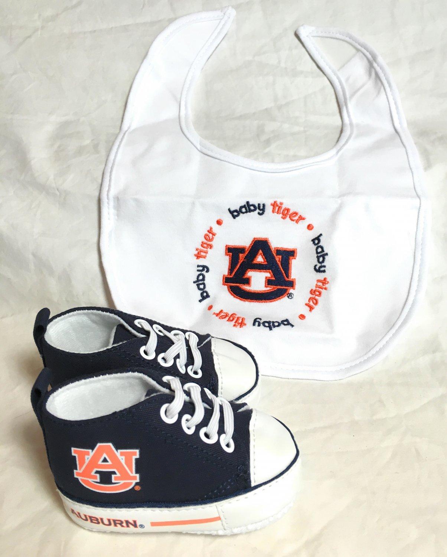 Auburn University - Baby Fanatic Bib & Pre-Walkers Gift Set - NEW