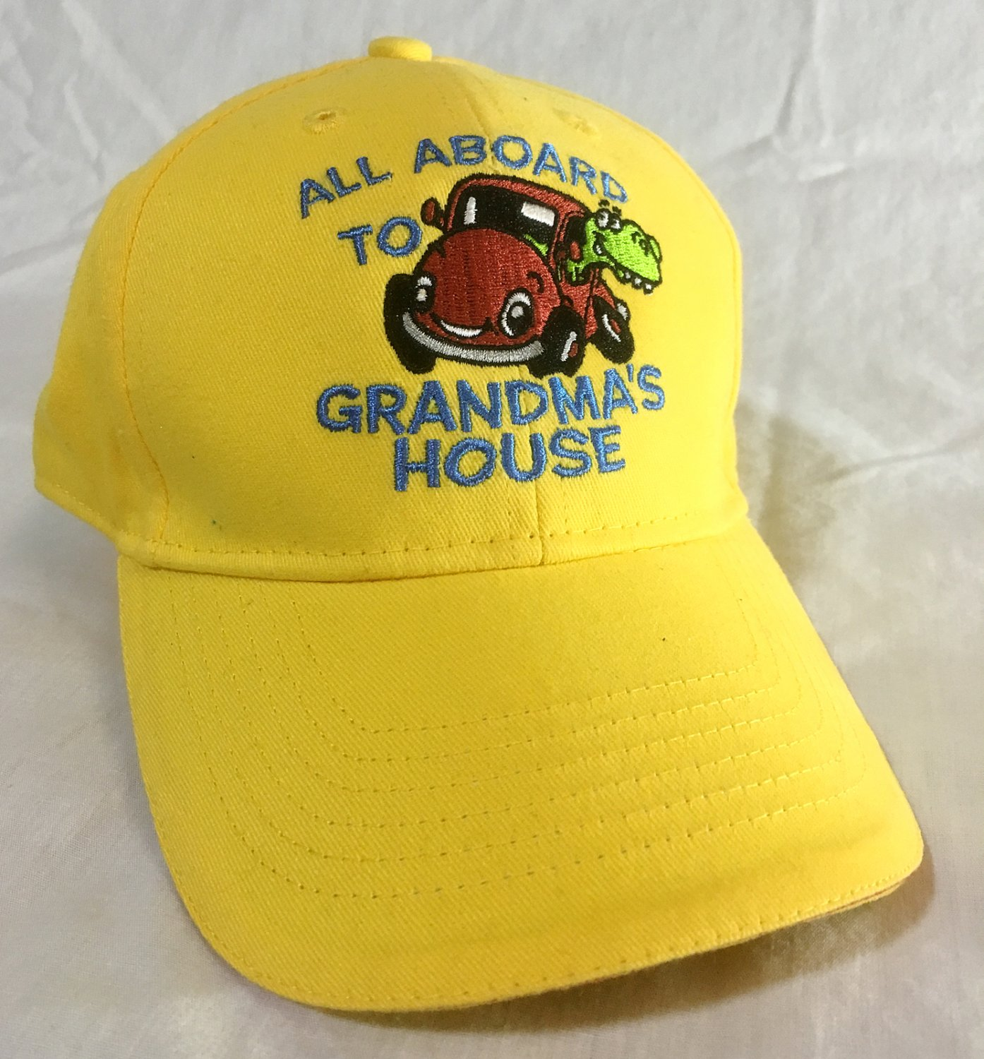 """""""All Aboard to Grandma's House"""" Yellow Child Ball Cap - NEW w/Tags"""