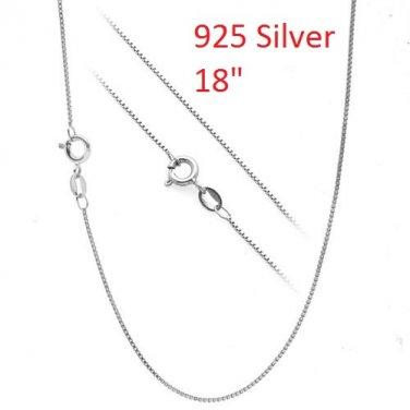 """18"""" 925 Silver Box Chain"""