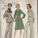 SIMPLICITY PATTERN 6454--2-PIECE DRESS OR TOP AND PANTS IN HALF SIZES