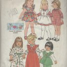 SIMPLICITY PATTERN 7197--UNCUT--TODDLER'S DRESS & PINAFORE DRESS IN 2 LENGTHS & PANTS--SIZE 4