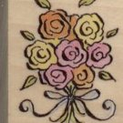 "ROSE BOUQUET RUBBER STAMP--ALL NIGHT MEDIA--1.25"" X 1.5"""