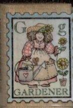 "Gardener Postage Rubber Stamp--1"" X 1 1/4""--Hero Arts A1226"
