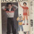 McCall's Pattern 8721--Boy's Top/Pants/Shorts--Boy Size 5
