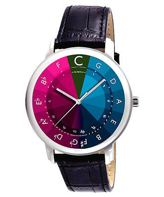 CIRCLE OF FIFTHS MUSICAL NOTATION LARGE 40 mm COLORFUL WRIST WATCH