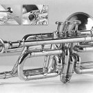 CLASSIC 3-VALVE TROMBONE FOR TRUMPET CROSSOVER PLAYERS. 2017. with HARDCASE.