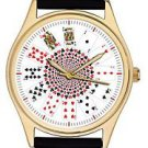STUNNING PLAYING CARDS POKER GAMBLING ART LARGE 44 mm COLLECTORS WRIST WATCH