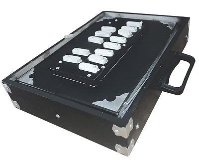 MKS SHRUTI BOX SURPETI CLASSIC BLACK POLISHED TEAK WOOD. 13-STOPPER C - C'