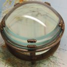 MAGNIFYING GLASS. DESKTOP LOUPE. ZWEISS HAMBURG HEAVY BRASS & CRYSTAL