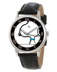RARE VINTAGE SNOOPY PEANUTS OUTLINE ART COLLECTIBLE 40 mm ADULT SIZE WRIST WATCH