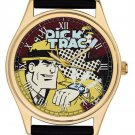 "*RARE* DICK TRACY ""I'M ON MY WAY"" VINTAGE CHEQUERED ART COLLECTIBLE WRIST WATCH"