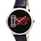 CLASSIC BARBER SHOP NEON SIGN POLE ART 40 mm SALON ART COIFFEUR WRIST WATCH
