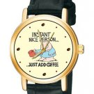 VINTAGE ZIGGY COMIC STRIP ART COLLECTIBLE COFFEE LOVER WRIST WATCH, 30 mm UNISEX