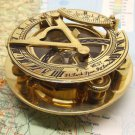 STUNNING 3-INCH F.L. WEST LONDON BRASS SUNDIAL COMPASS, FAST USA SHIPPING.