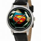 VINTAGE TEAL COLORS SUPERMAN MAN OF STEEL COLLECTIBLE JUMBO 40 mm WRIST WATCH