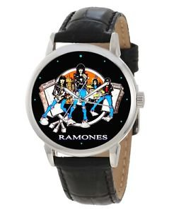 THE RAMONES, RARE VINTAGE PROMOTIONAL ROCK ART 40 mm COLLECTIBLE WRIST WATCH