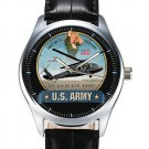 VINTAGE AVIATION PINUP ART UH 60 BLACKHAWK COMBAT HELICOPTER WRIST WATCH