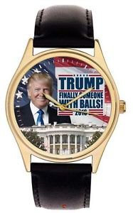 """CLASSIC DONALD TRUMP """"FINALLY SOMEONE WITH BALLS"""" PRESIDENTIAL WHITE HOUSE WATCH"""