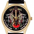 ROCK AND ROLL KICKASS ELECTRIC GUITAR ART COLLECTIBLE RETRO ART WRIST WATCH