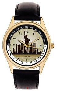 City that Never Sleeps Classy 24-hour Dial New York City Collectible Wrist Watch