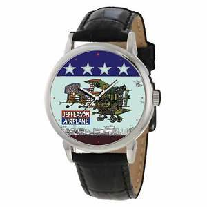 VINTAGE JEFFERSON AIRPLANE ROCK ALBUM ART LARGE 40 mm COLLECTIBLE WRIST WATCH