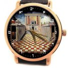 GREAT JUDAISM COLLECTIBLE, TEMPLE OF SOLOMON שְׁלֹמֹה RABBI KARO ART WRIST WATCH