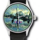 ORIGINAL ART B-17 FLYING FORTRESS WORLD WAR WW- II BOMBER ART COLLECTOR'S WATCH