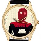 VINTAGE C-3PO STAR WARS ICONOGRAPHIC ROBOT ART COLLECTIBLE WRIST WATCH