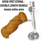 SITAR BRASS FRET TYING TRADITIONAL YELLOW THREAD MUGGA, DOUBLE SIZE SPECIAL ROLL