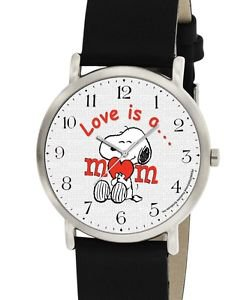 LOVE IS A MOM, VERY RARE ORIGINAL PEANUTS ART COLLECTIBLE SNOOPY WRIST WATCH