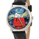 ORIGINAL BRIGHT VIBRANT SNOOPY PEANUTS VERSUS VAN GOGH STARRY NIGHT WRIST WATCH