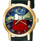 STUNNING VIBRANT COLORS SNOOPY V/S VAN GOGH STARRY NIGHT UNISEX PEANUTS WATCH